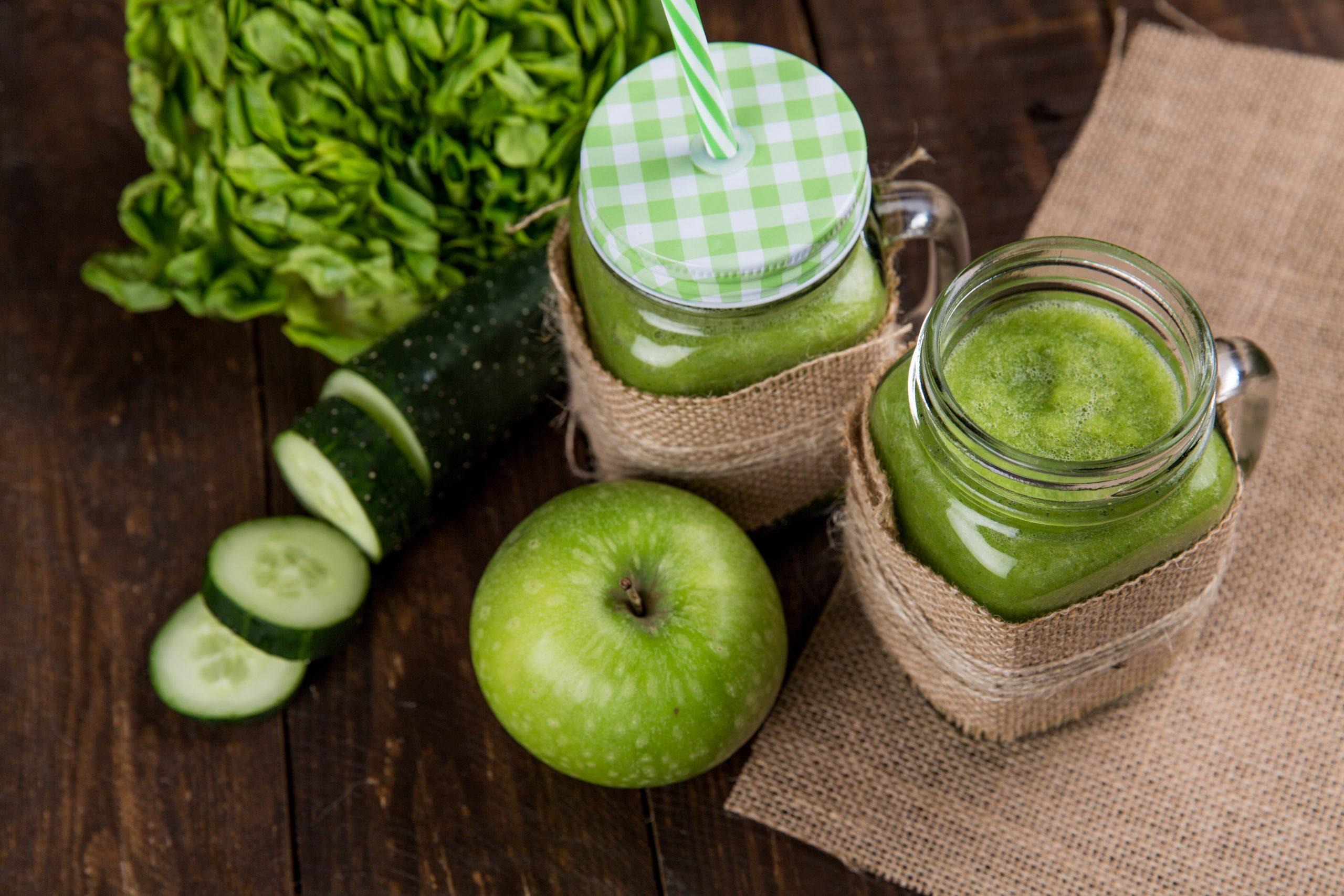 batido de manzana verde y pepino