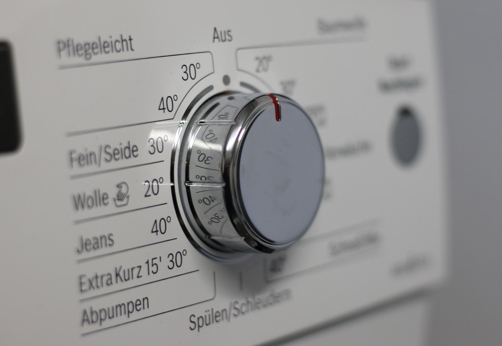 control de lavadora