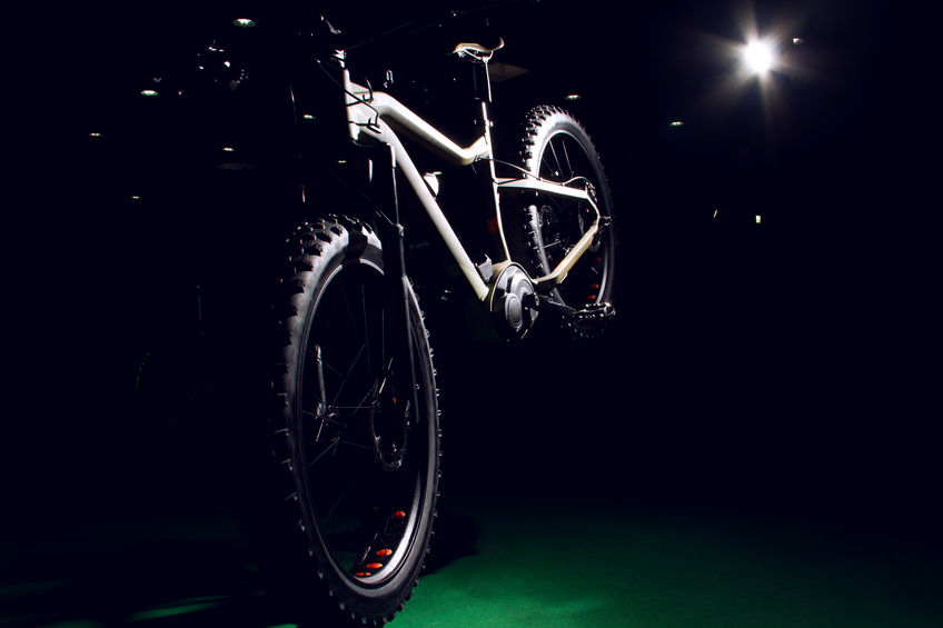 bicicleta en mostrador