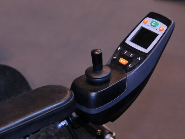 21995583 – the electric controls of a modern disability wheelchair