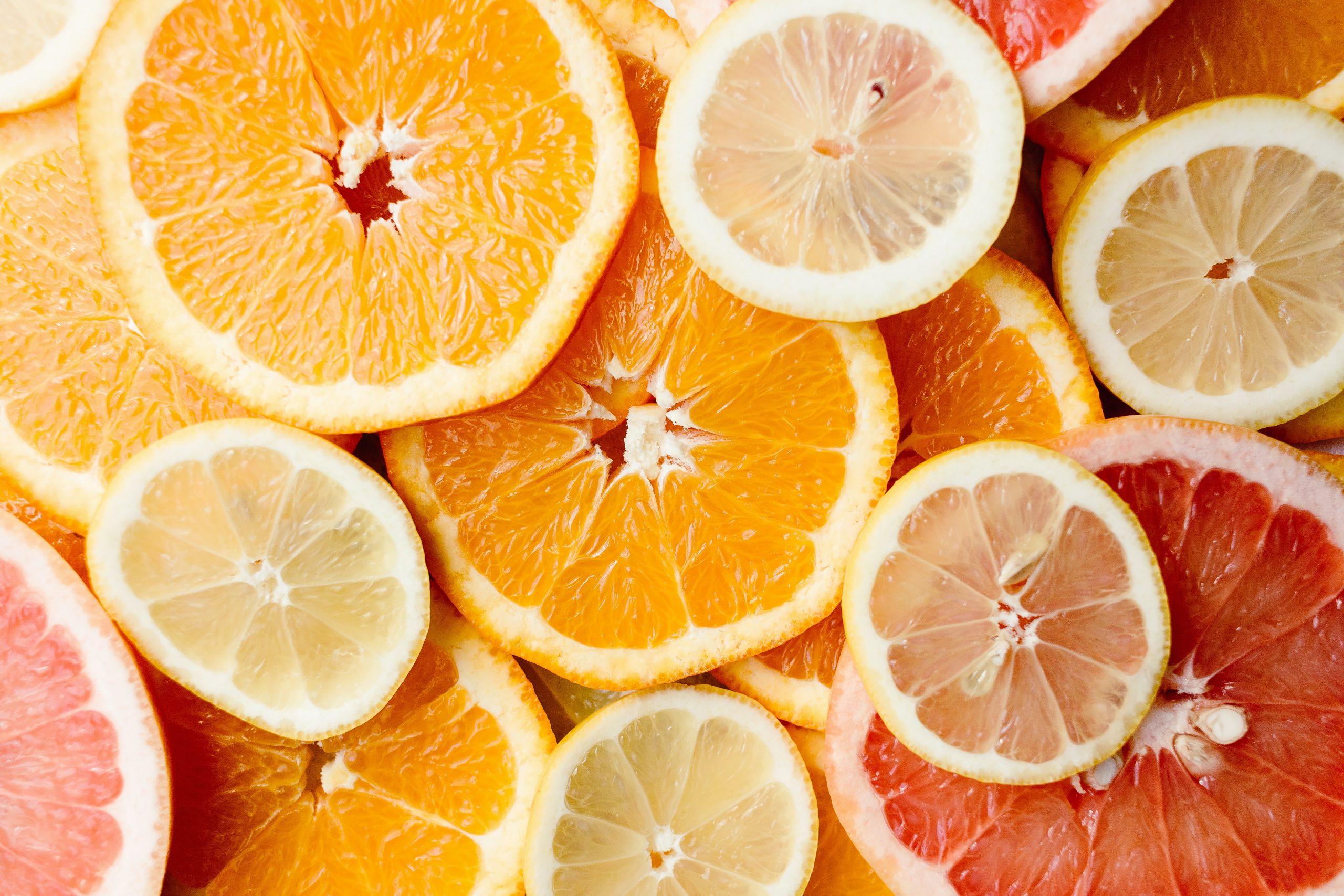 frutas con vitaminas c