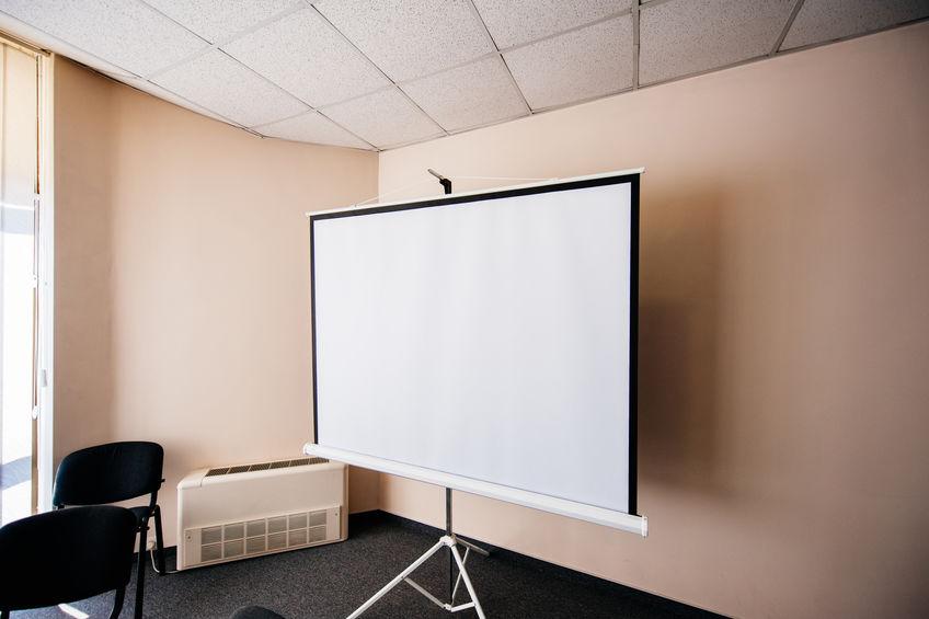 pantalla de proyección