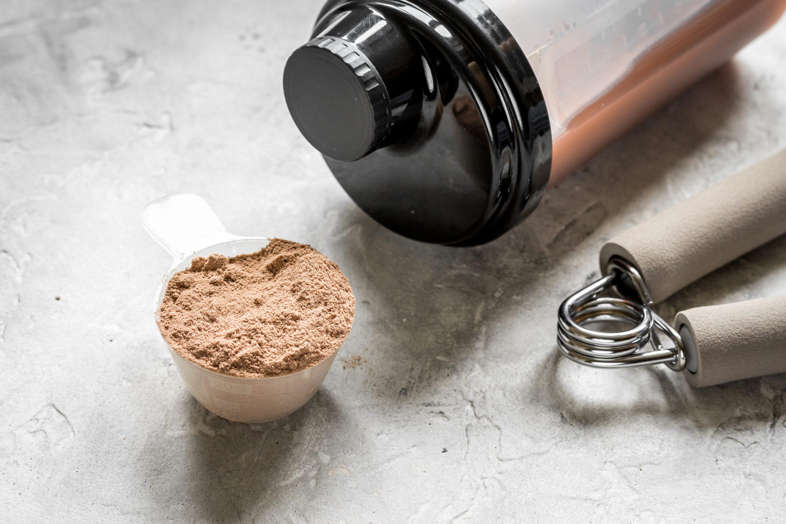 proteina en polvo con shaker