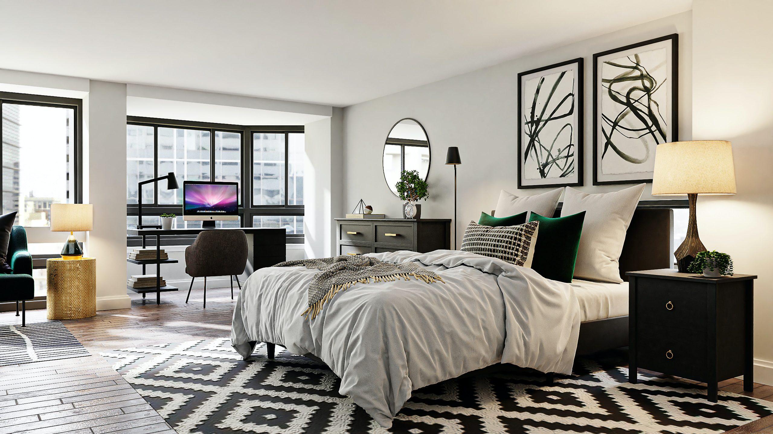 cuarto con alfombra