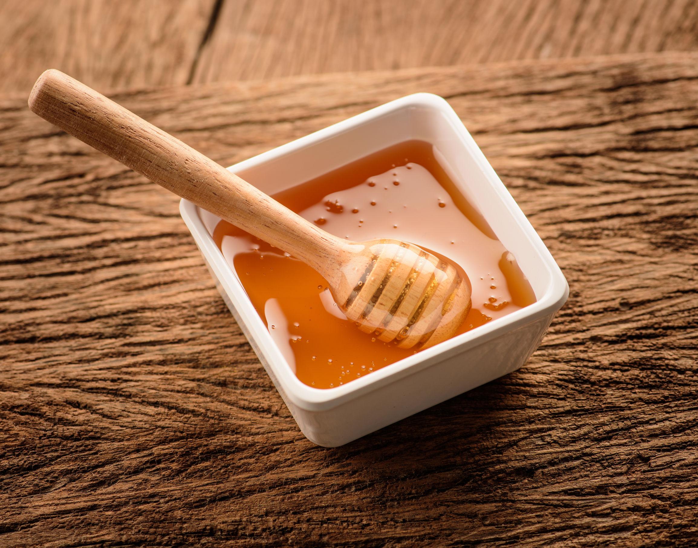 recipiente con miel