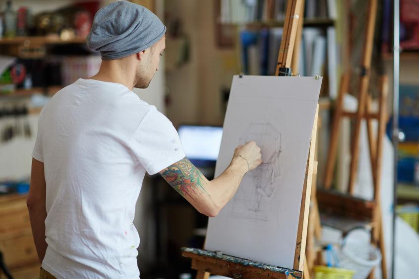caballete de dibujo
