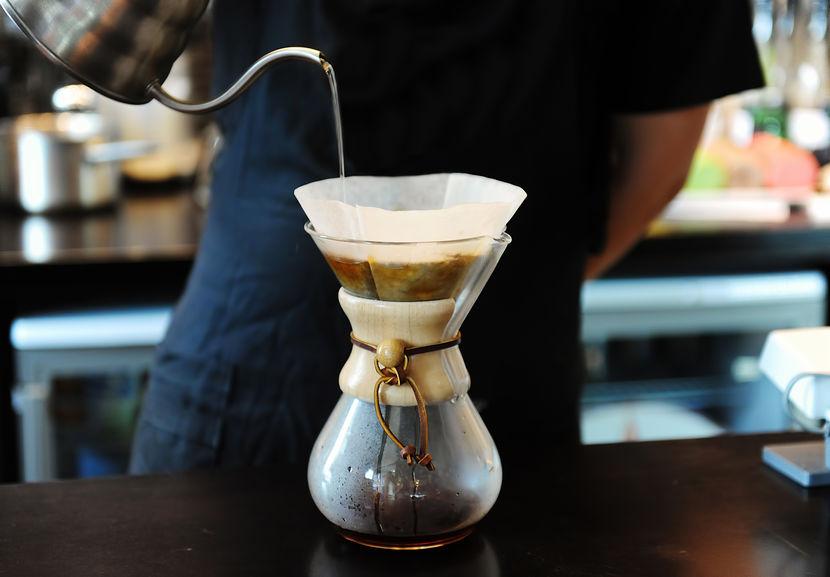 brewing de café
