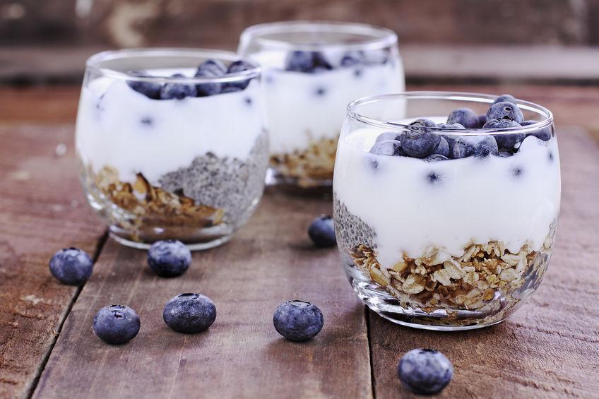 granola con yogurt