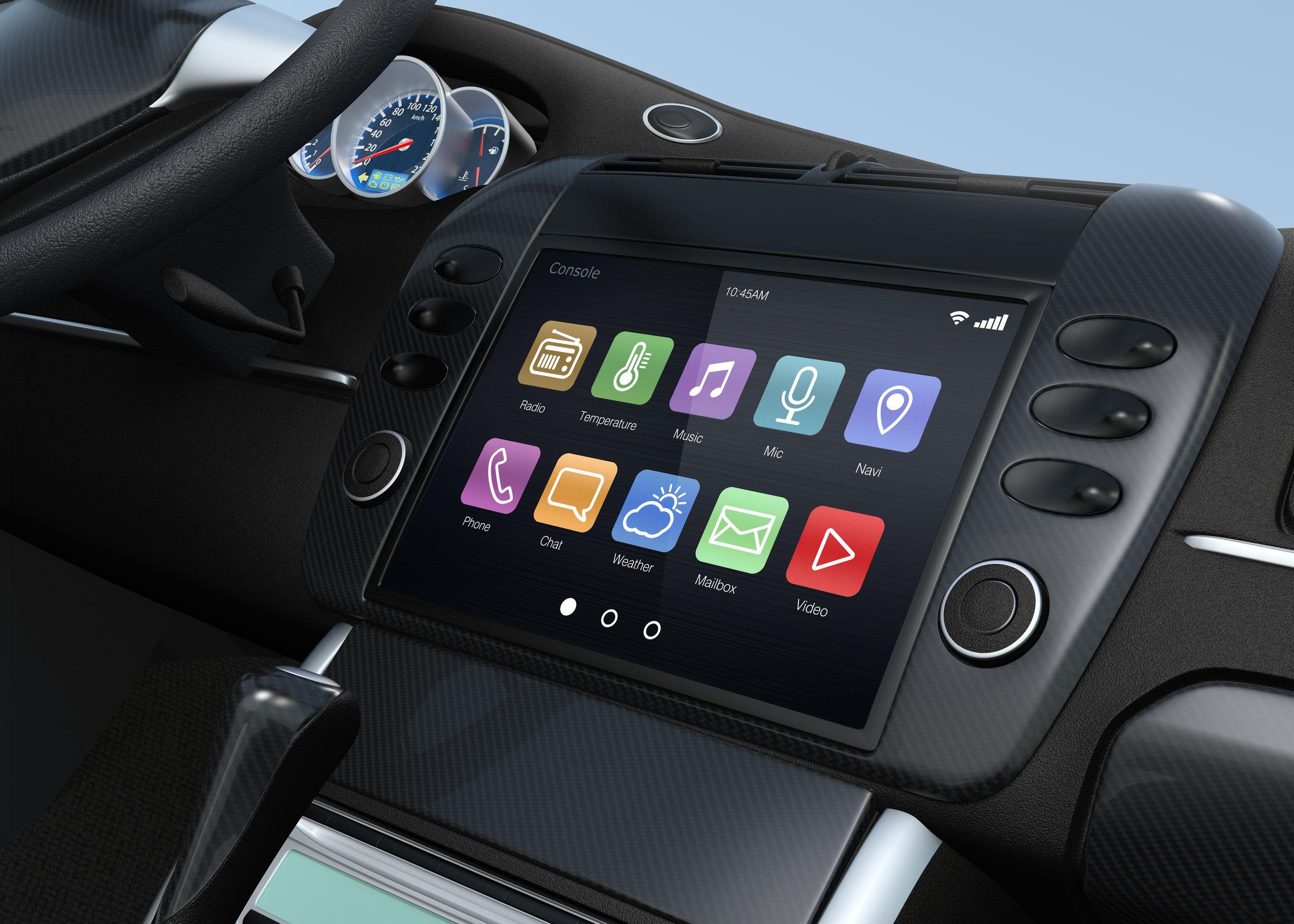 Radio para coche con pantalla