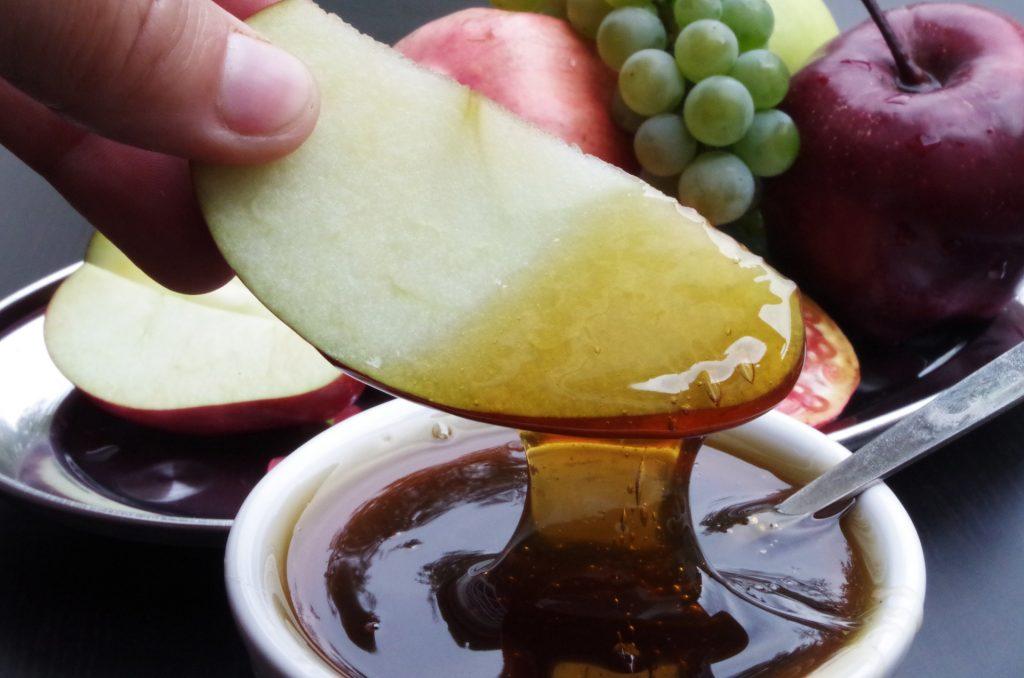fruta con miel
