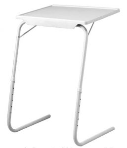 Mesa auxiliar plegable blanca