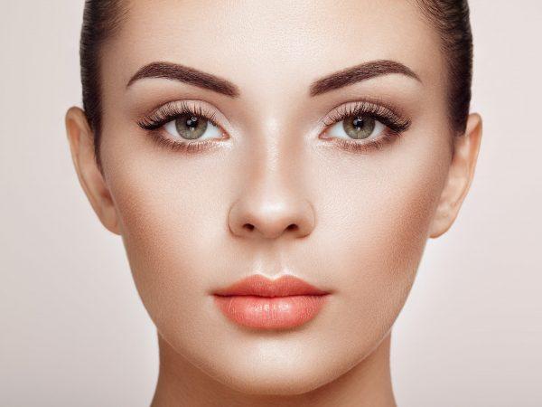 Beautiful Woman with Extreme Long False Eyelashes. Eyelash Extensions. Makeup, Cosmetics. Beauty, Skincare