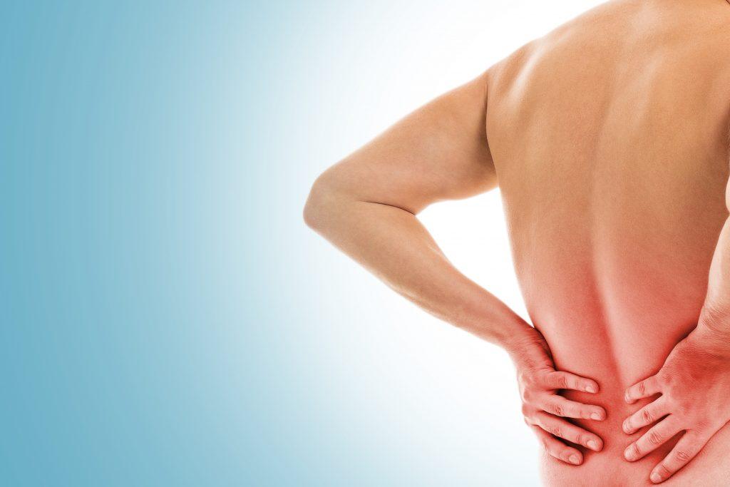 Persona con dolor de espalda