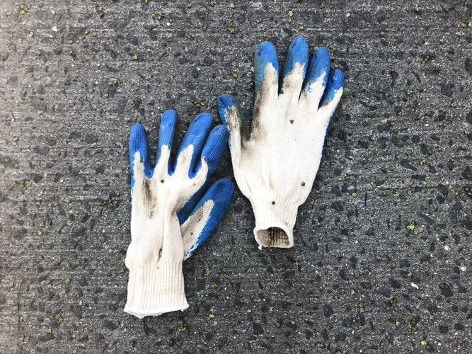 guantes de trabajo blancos