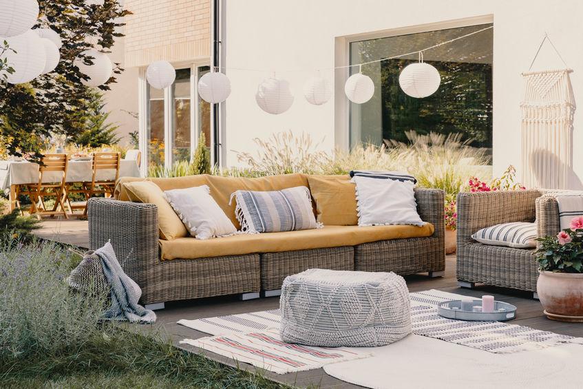 sillones de jardin en casa