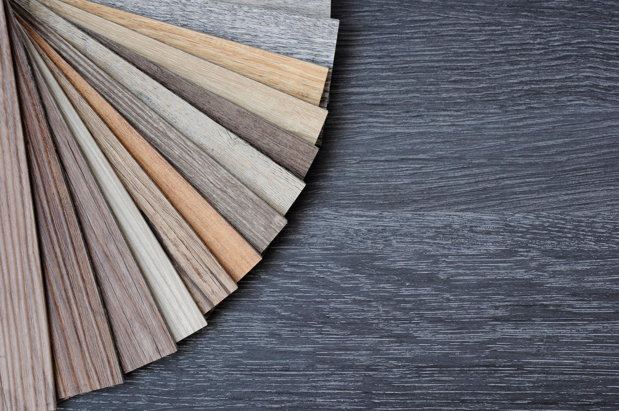 Varios estilos de vinilos de madera