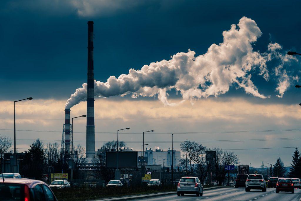 Ciudad con altas emisiones de CO2
