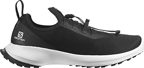 Salomon Sense Feel 2 Hombre Zapatos de trail running, Negro (Black/White/Black), 46 ⅔ EU