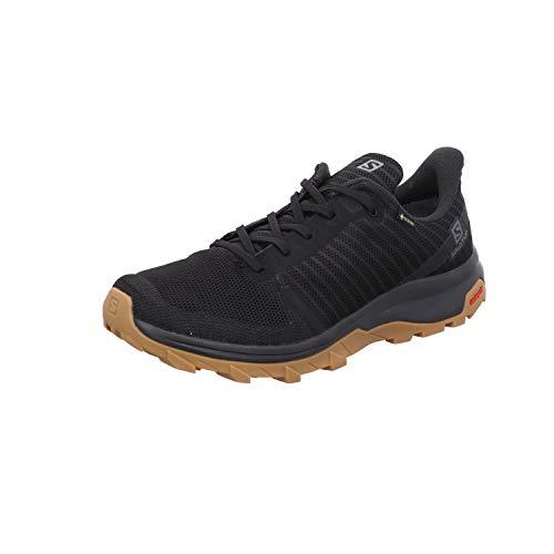 Salomon Outbound Prism Gore-Tex (impermeable) Hombre Zapatos de trekking, Negro (Black/Black/Gum1a), 44 EU