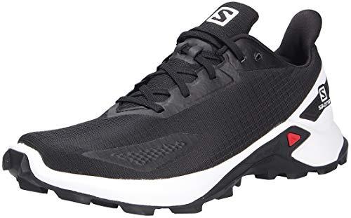 Salomon Alphacross Blast Hombre Zapatos de trail running, Negro (Black/White/Black), 47 ⅓ EU