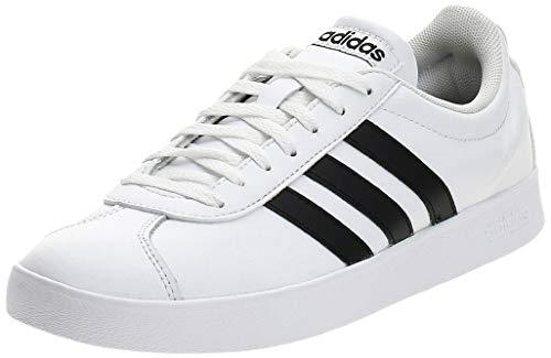 adidas VL Court 2.0, Zapatillas Hombre, Blanco (Footwear White/Core Black/Core Black 0), 41 1/3 EU