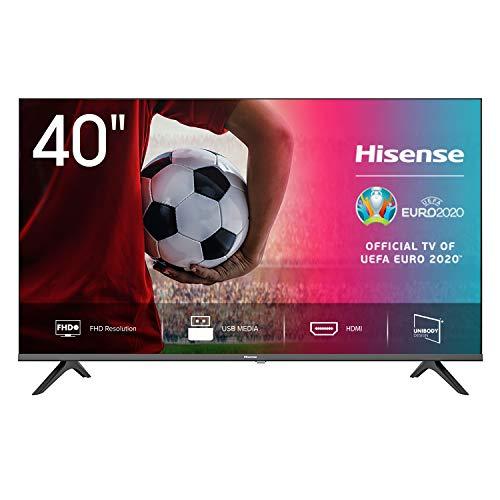 Hisense 40AE5000F - TV, Resolución Full HD, FHD TV 2020, Natural Color Enhancer, Dolby Audio, HDMI, USB, Salida auriculares