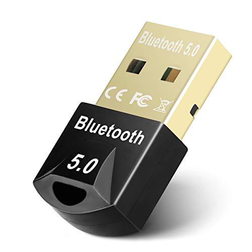 Maxuni Adaptador Bluetooth 5.0, USB Dongle Bluetooth para computadora Transferencia inalámbrica de Escritorio para portátil, Auriculares, Altavoces, Teclado, Compatible con Windows 10/8.1/8 /7