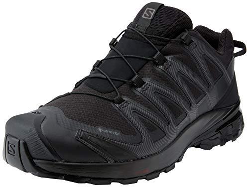 Salomon XA Pro 3D V8 Gore-Tex (impermeable) Hombre Zapatos de trail running, Negro (Black/Black/Black), 41 ⅓ EU