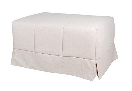 Quality Mobles - Cama Plegable Individual de 80x190 cm Funda Color Arena