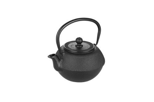 Ibili Hierro Fundido Color Negro-Tetera de Mesa-Mantiene el Calor-Asa Plegable-0,72 litros