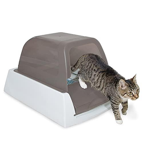 PetSafe Arenero de Gatos Autolimpiable ScoopFree Ultra, Arenero Automático Cubierto, Arena Aglomerante para Gatos, Elimina malos olores, Grande