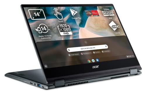 Acer Chromebook Spin 514 - Ordenador Portátil 2 en 1 Convertible y Tactil 14