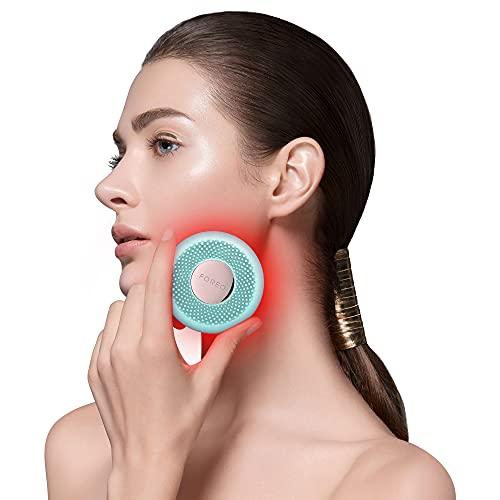 FOREO UFO mini Dispositivo de tratamiento facial con pulsaciones T-sonic, termoterapia y terapia de luz LED para todo tipo de pieles, Mint