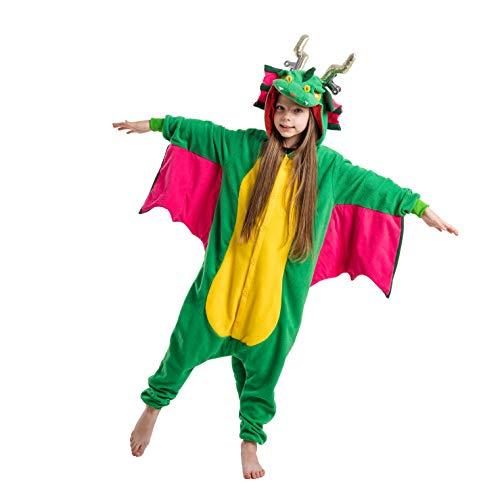 Spooktacular Creations Pijama de Felpa Infantil Dragón Unisex para Niños Disfraz de Animal Cosplay