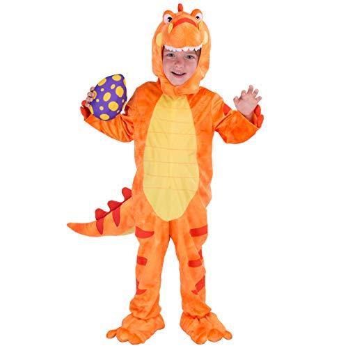 Spooktacular Creations Disfraces de Dinosaurio para Niños Unisex Cosplay Halloween T-Rex Dinosaurio Pijama para Infantil Fiesta (XS)