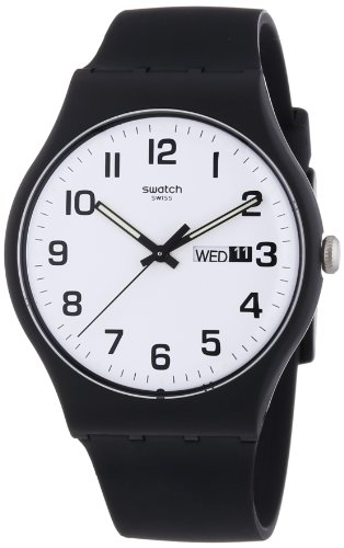 Swatch Twice Again - Reloj de Cuarzo Color Negro