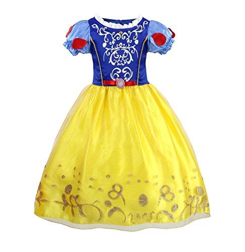 AmzBarley Disfraz Vestido Princesa Blancanieves Niña Tutu Ceremonia,Traje Niña,Disfraz Infantil Fiesta Carnaval Cosplay Halloween 2-3 Años