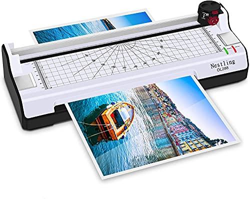 Nestling Plastificadora a4, Laminadora en Caliente y en FríO 300mm / Min, 10 Bolsas Laminadoras, Tarjetas Selladas, Documentos