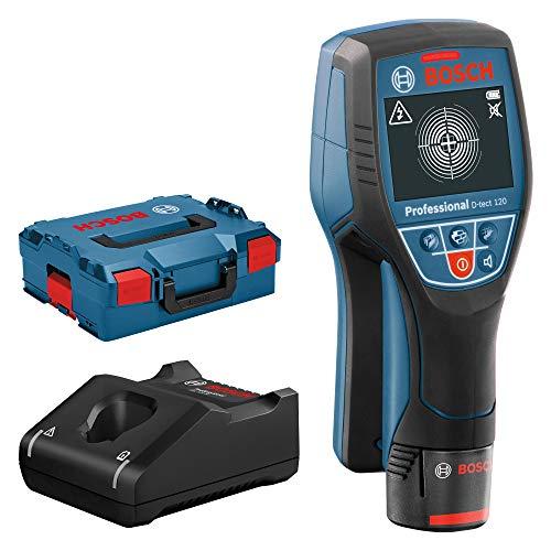 Bosch Professional Sistema 12V Detector de pared D-tect 120 (1 batería 12V + cargador, profundidad máx. 120 mm, en L-BOXX)